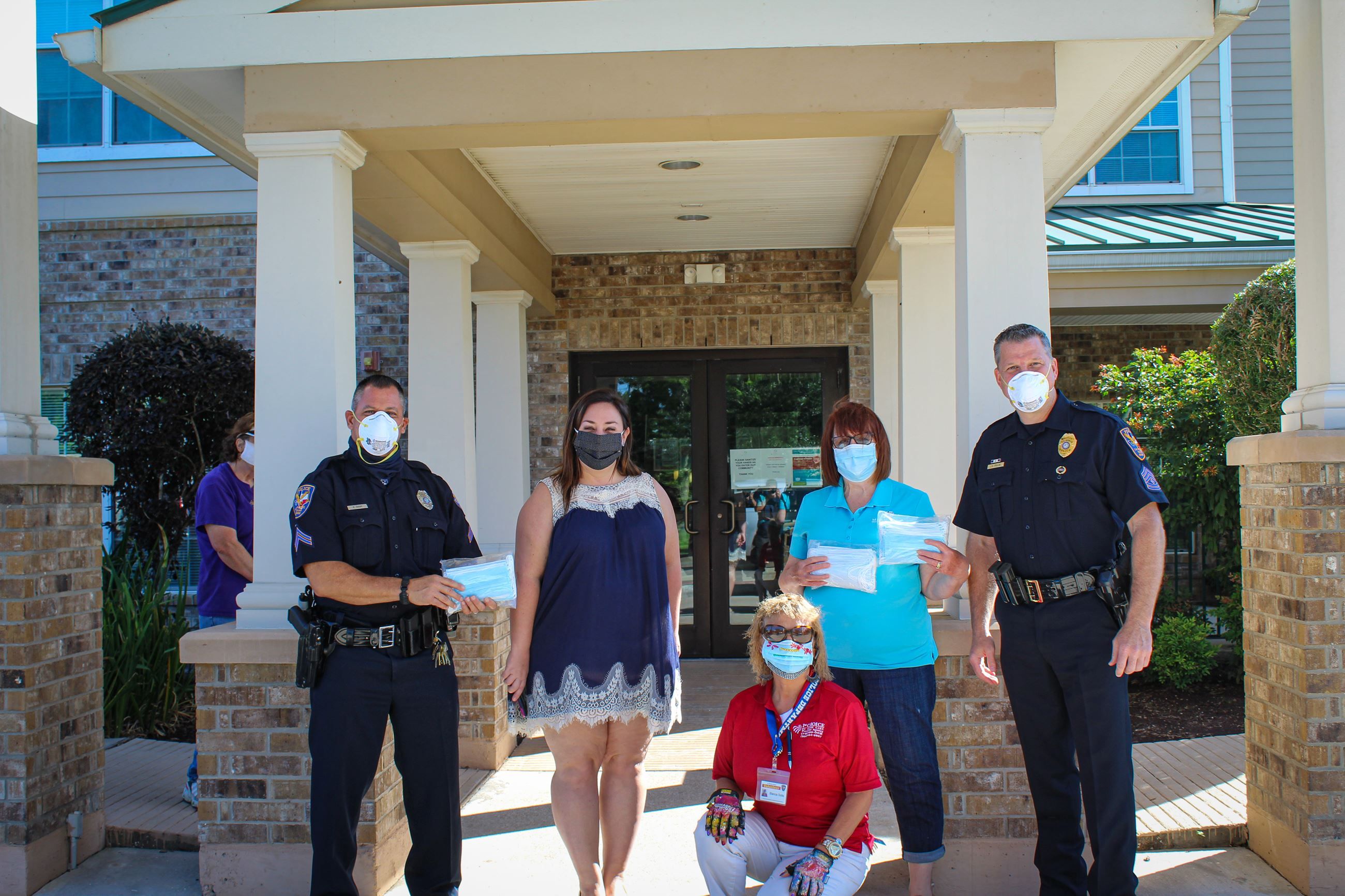 Police Deliver Masks to Senior Living Facility