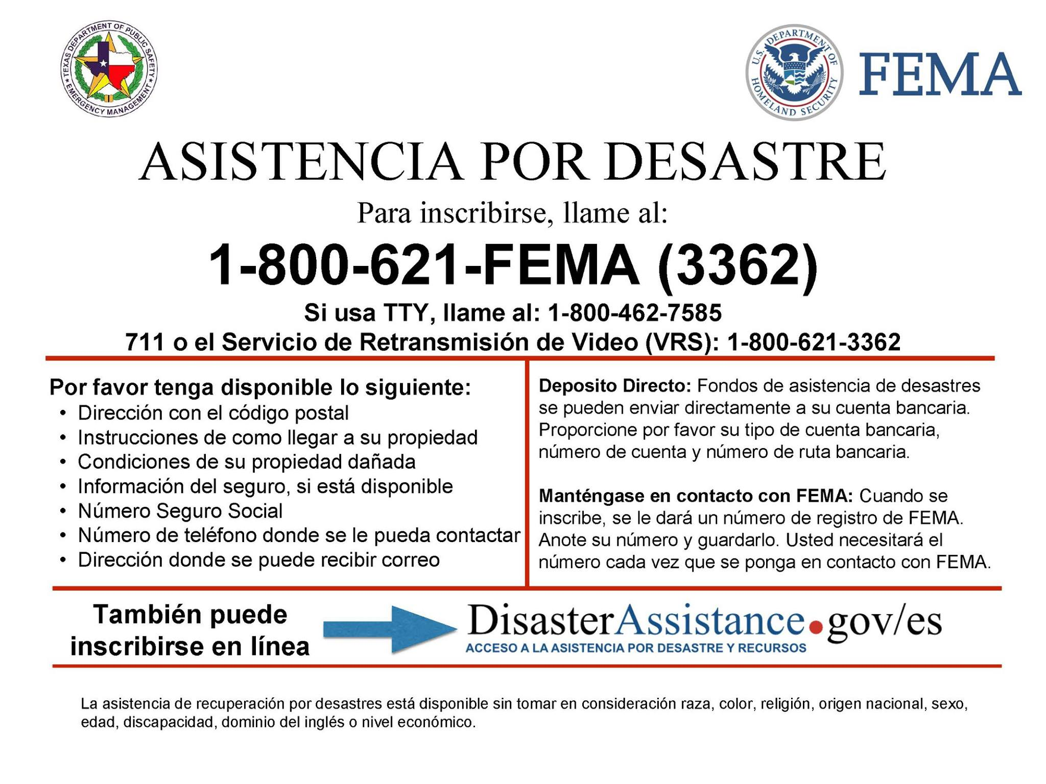 FEMA Disaser assistance_Spanish